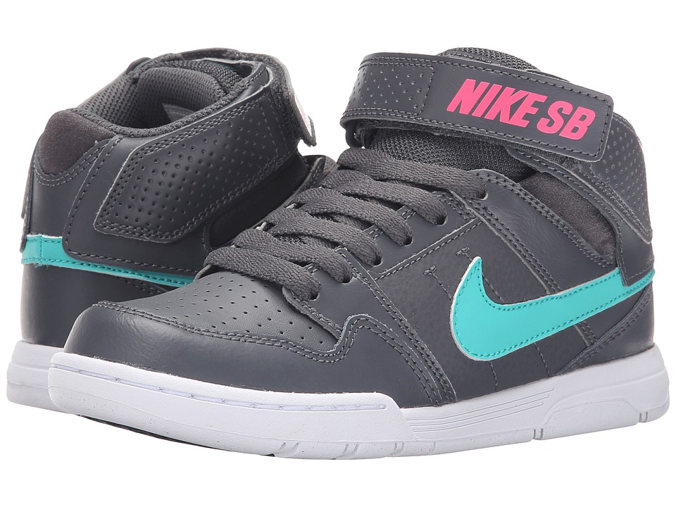 Nike SB Kids Mogan Mid 2 Jr Little Kid/Big Kid Dark Grey/Hyper Pink/White/Light Retro Girls Shoes