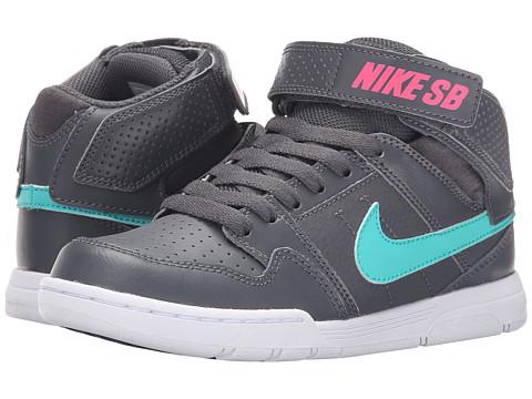 Nike SB Kids Mogan Mid 2 Jr (Little Kid/Big Kid) - Dark Grey/Hyper Pink/White/Light Retro