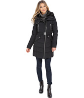 French Connection - Belted Puffer Coat w/ Fur & Inside Bib