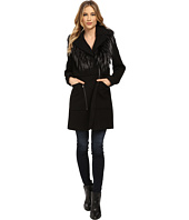 French Connection - Wool Coat w/ Detachable Fur Vest