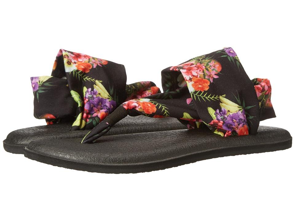 Sanuk Yoga Sling 2 Prints Black Tropic Amazon Womens Sandals