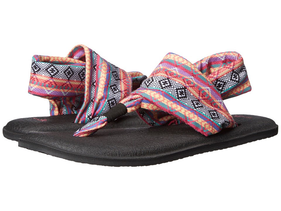 Sanuk Yoga Sling 2 Prints (Magenta/Multi Tribal Stripe) Women