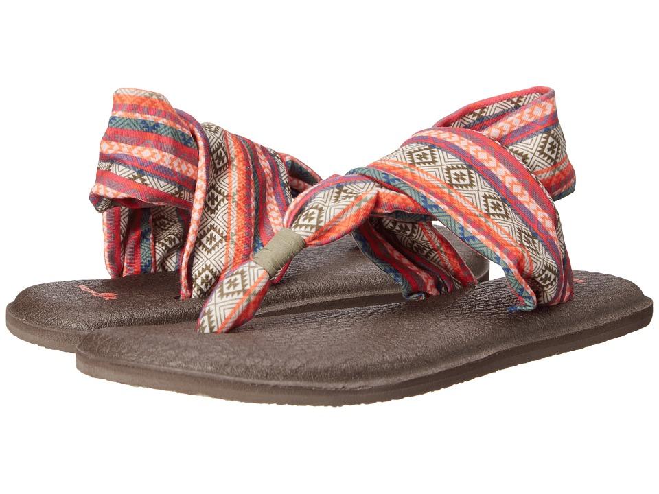 Sanuk Yoga Sling 2 Prints Olive/Multi/Tribal Stripe Womens Sandals