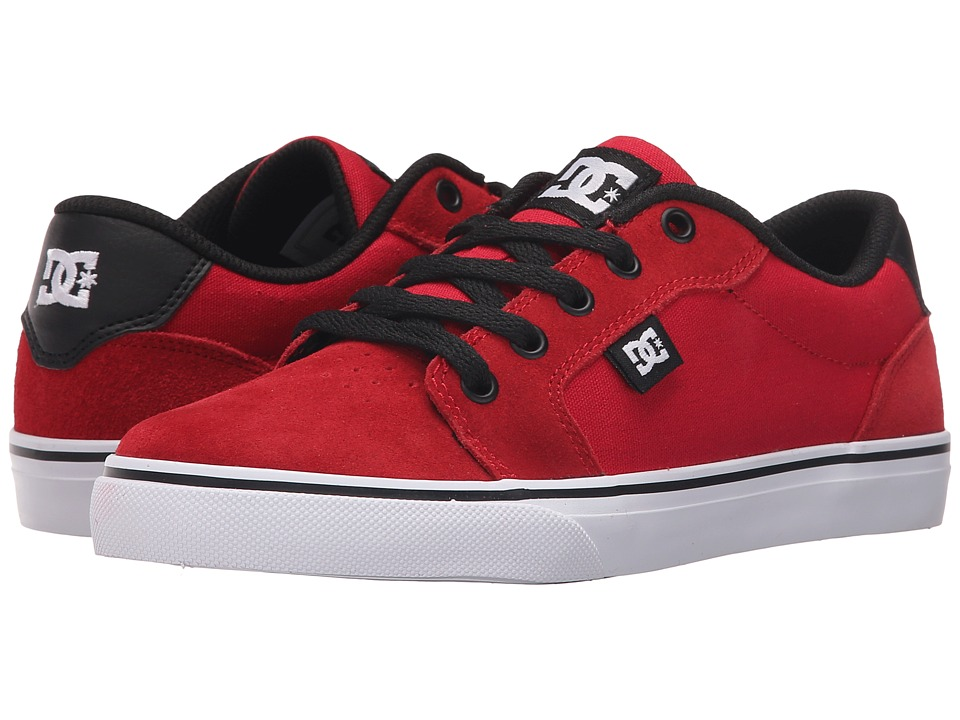 DC Kids Anvil Big Kid Athletic Red/Black Boys Shoes