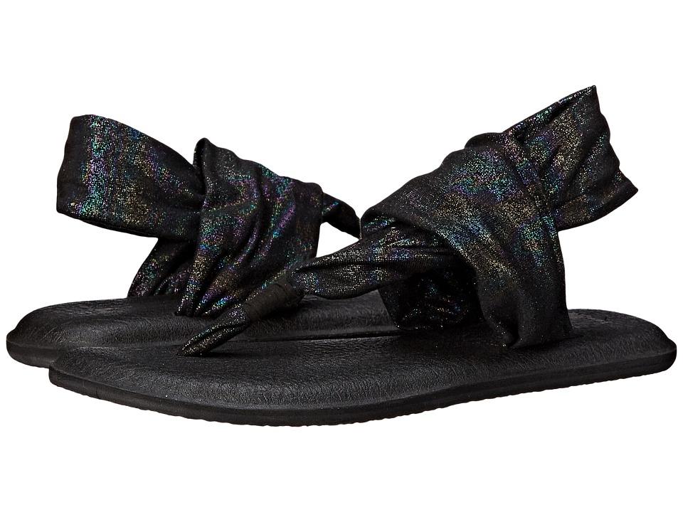 Sanuk Yoga Sling 2 Metallic Black Rainbow Womens Sandals