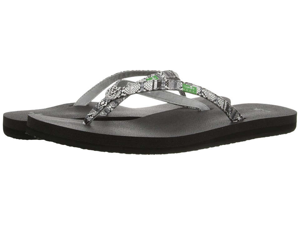 Sanuk Yoga Joy Funk (Black/Multi Tribal Stripe) Women