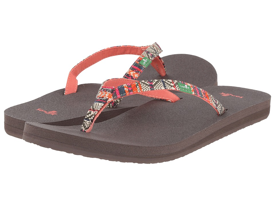 Sanuk Yoga Joy Funk (Olive/Multi Tribal Stripe) Women