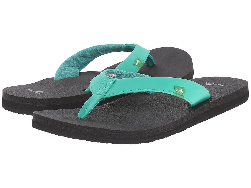 Sanuk Yoga Zen Hot Turquoise Womens Sandals