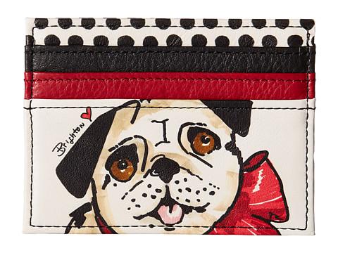 Brighton Fashionista Paris Pug Card Case - Multi