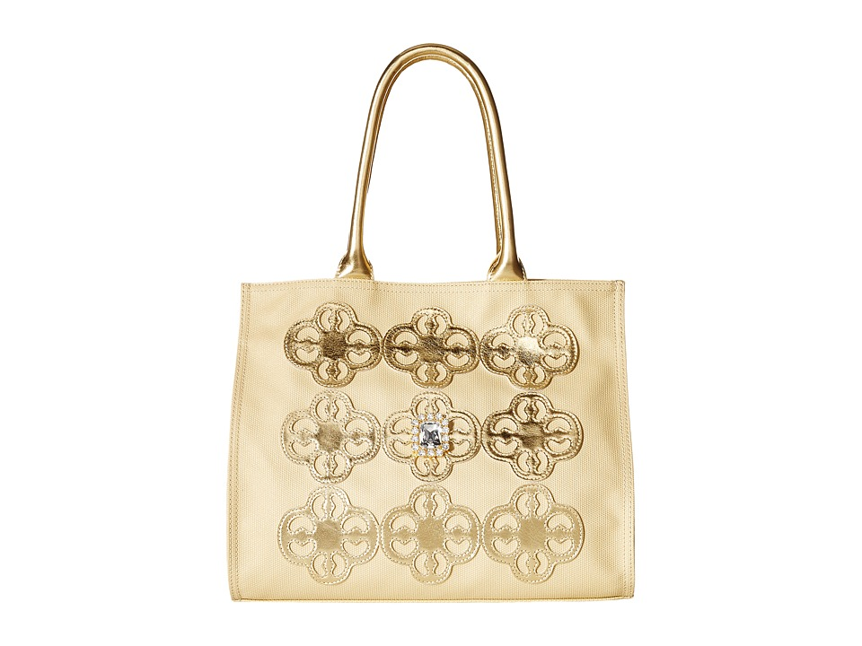 My Flat In London - Socialite Square Tote (Gold) Tote Handbags