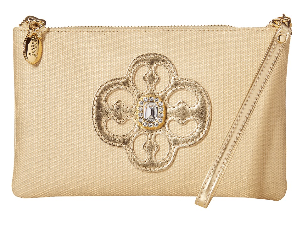 My Flat In London - New Socialite Zip Pouch (Gold) Travel Pouch