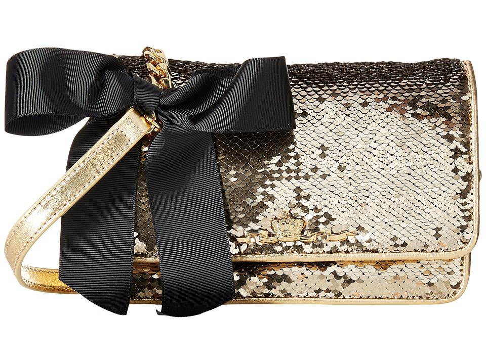 My Flat In London - Sparkle Small Sequin Flap Bag (Gold) Shoulder Handbags