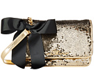 My Flat In London Sparkle Small Sequin Flap Bag (Gold)