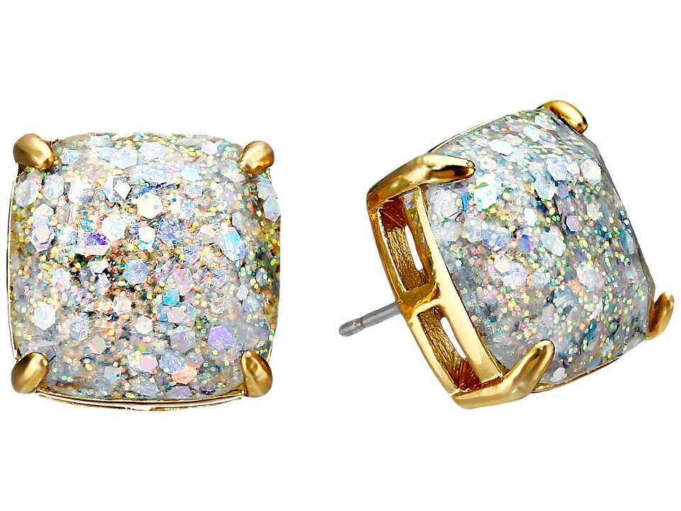 Kate Spade New York - Small Square Studs (Opal/Glitter) Earring