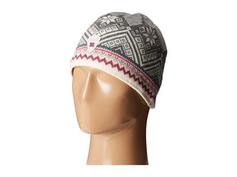 Dale of Norway Glittertind Hat - Off White/Allium/Light Charcoal/Smoke