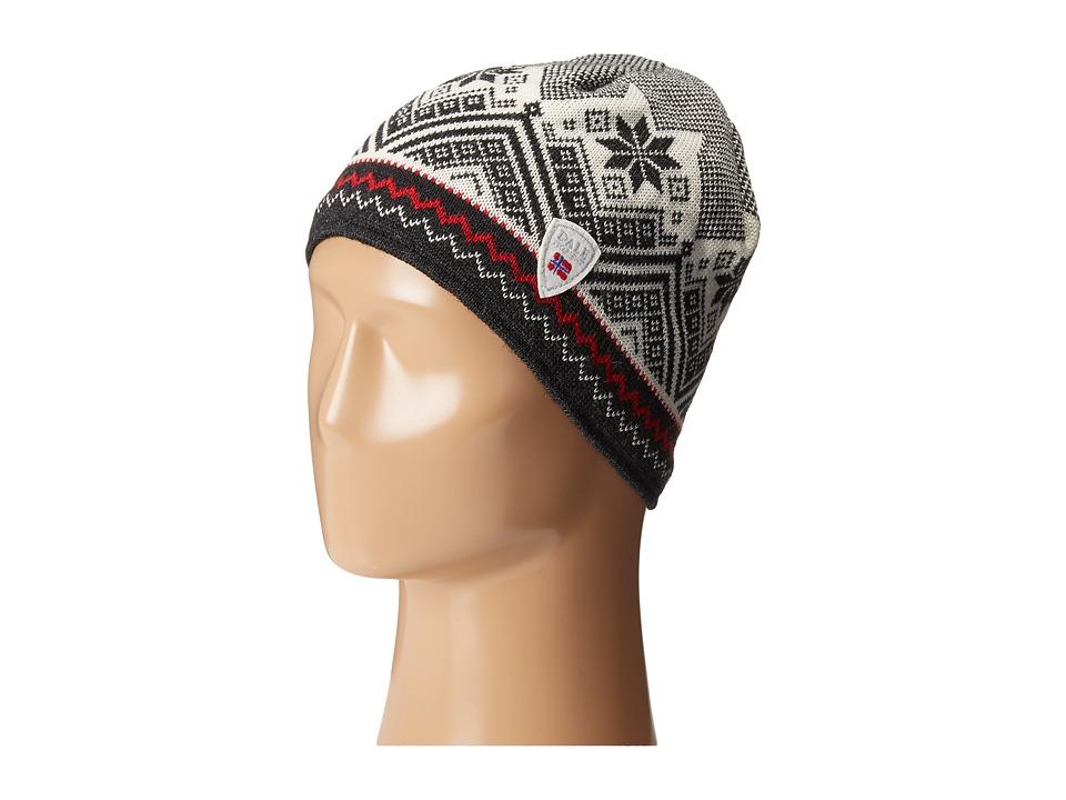 Dale of Norway - Glittertind Hat (Black/Off White/Dark Charcoal/Raspberry) Caps