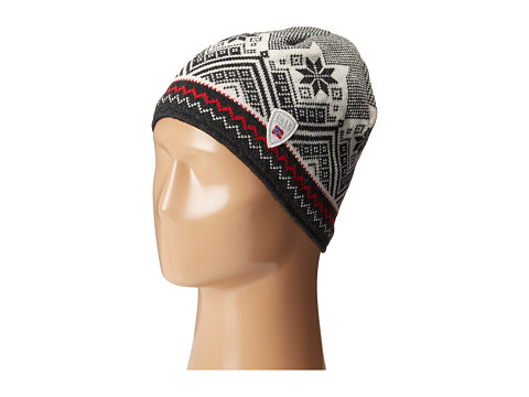 Dale of Norway Glittertind Hat - Black/Off White/Dark Charcoal/Raspberry