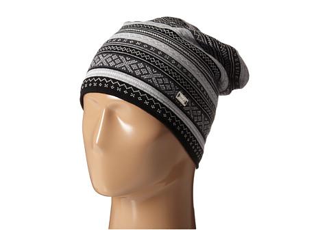 Dale of Norway Vinje Hat - Black/Off White/Light Charcoal/Dark Charcoal