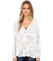 Brigitte Bailey - Ellen Paisley V-Neck Top with Tassel