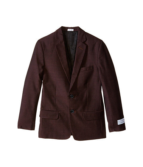 birdseye single girls Crafted with stretch fabric, this modern blazer features notch lapels, 3/4 sleeves with ruched detailing, a single button closure and a classic birdseye pattern.