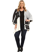 NYDJ Plus Size - Plus Size Colored Block Blanket Sweater
