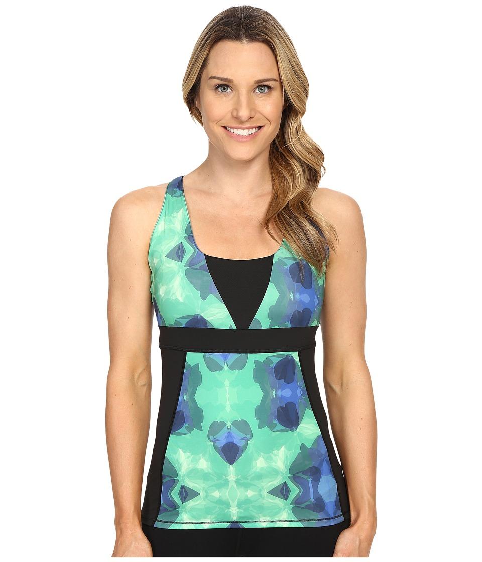 Skirt Sports Electric Tank Emerald City Print/Black Womens Sleeveless