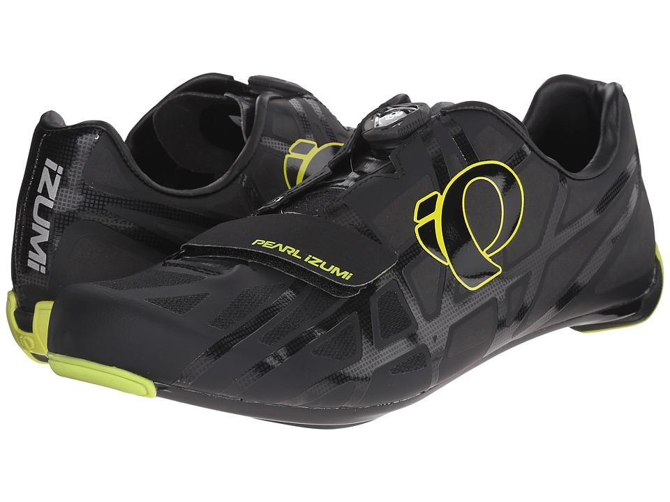 Pearl Izumi Race RD IV Black/Lime Punch Mens Cycling Shoes