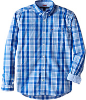 Tommy Hilfiger Kids - Long Sleeve Marlin Plaid Shirt (Big Kids)