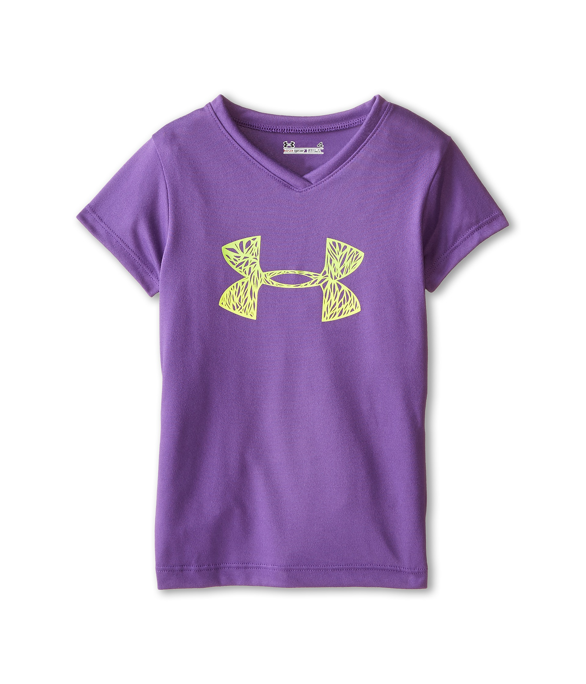 Under armour kids cutout big logo short sleeve t shirt for Under armour shirts for kids