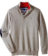 Tommy Hilfiger Kids - Long Sleeve Zac 1/2 Zip Solid Sweater (Big Kids)