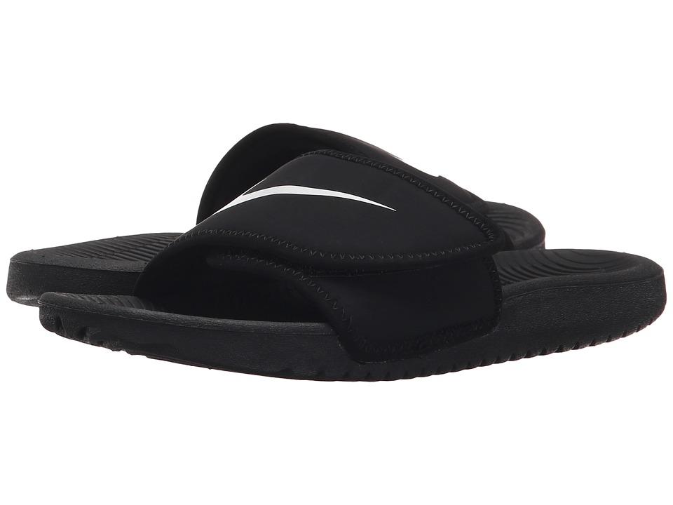 Nike Kids Kawa Adjust (Little Kid/Big Kid) (Black/White) Boys Shoes