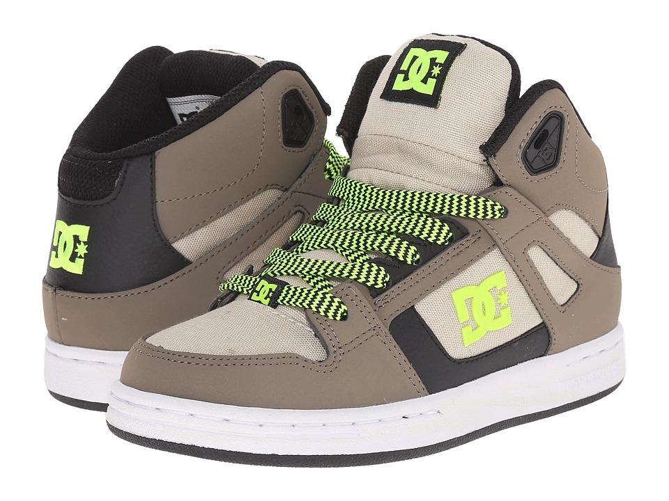 DC Kids Rebound SE Little Kid Taupe/Stone Boys Shoes