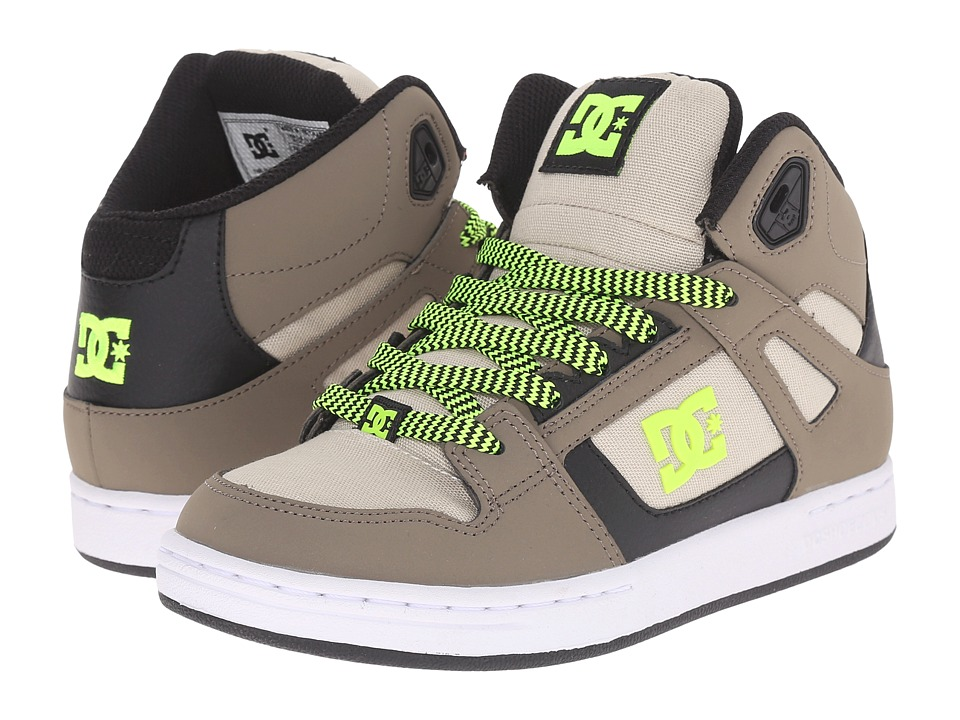 DC Kids Rebound SE Big Kid Taupe/Stone Boys Shoes