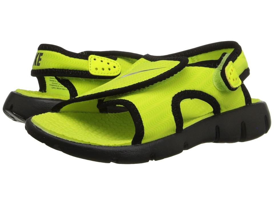 Nike Kids Sunray Adjust 4 (Little Kid/Big Kid) (Volt/Black) Boys Shoes