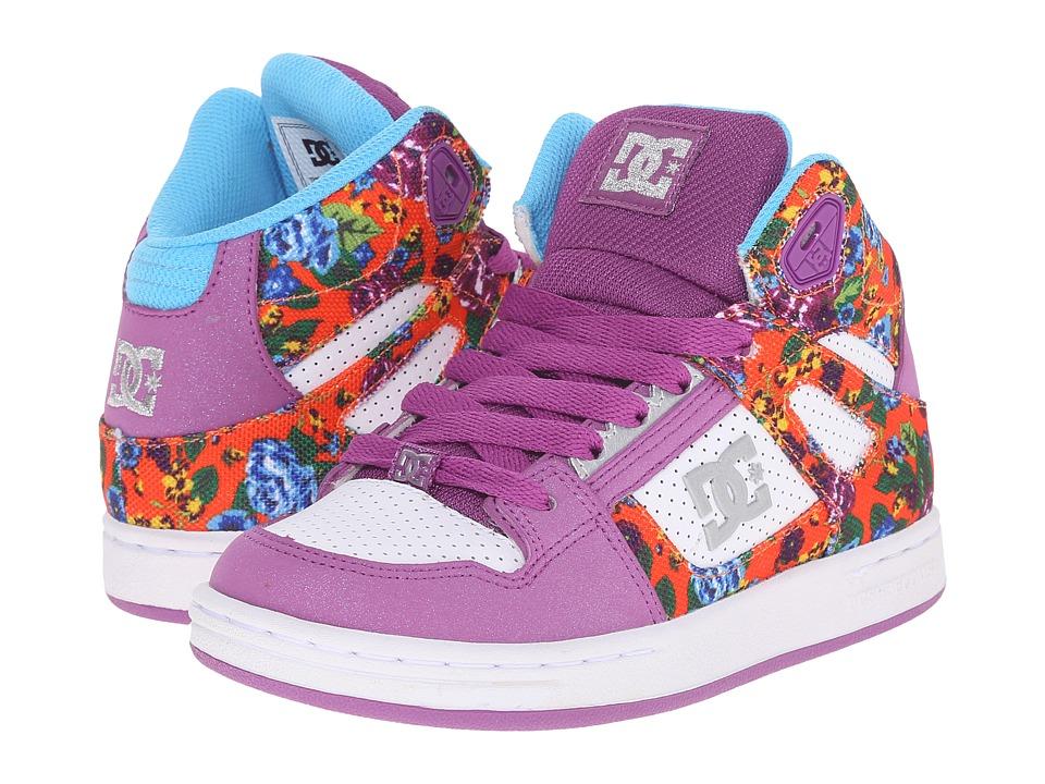 DC Kids Rebound SE Little Kid Purple Rain Girls Shoes