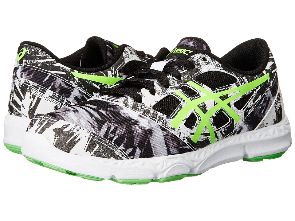 Image of ASICS Kids - 33-DFA 2 GS (Little Kid/Big Kid) (White/Green Gecko/Black) Boys Shoes