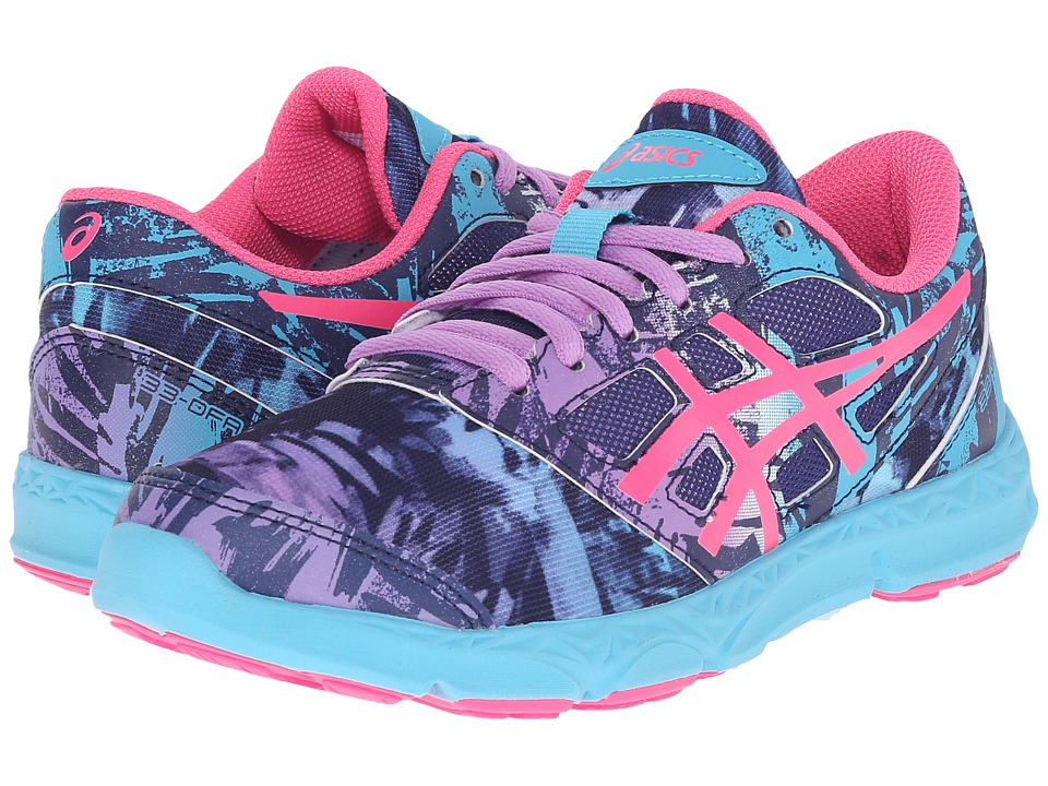Image of ASICS Kids - 33-DFA 2 GS (Little Kid/Big Kid) (Midnight/Hot Pink/Turquoise) Girls Shoes