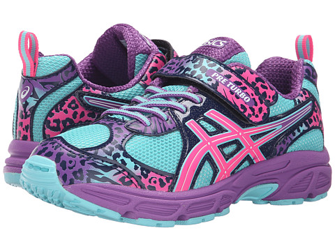 ASICS Kids Pre-Turbo PS (Toddler/Little Kid) - Turquoise/Hot Pink/Orchid