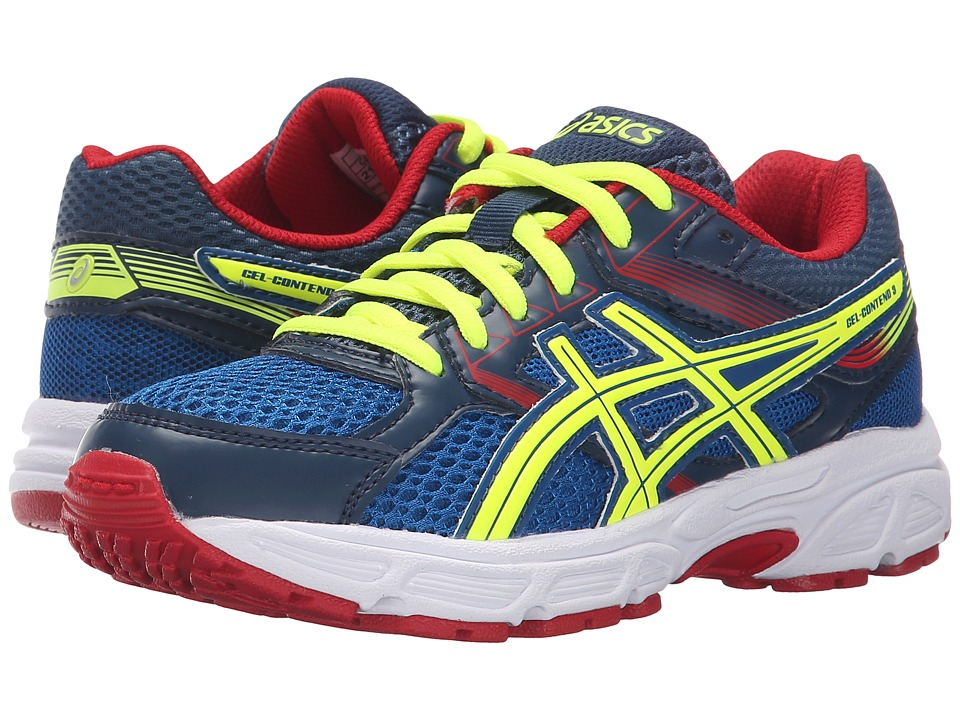 ASICS Kids Gel Contend 3 GS Little Kid/Big Kid Royal/Flash Yellow/Red Boys Shoes