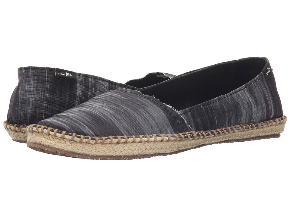 Sanuk Natal Black/Ikat Womens Flat Shoes