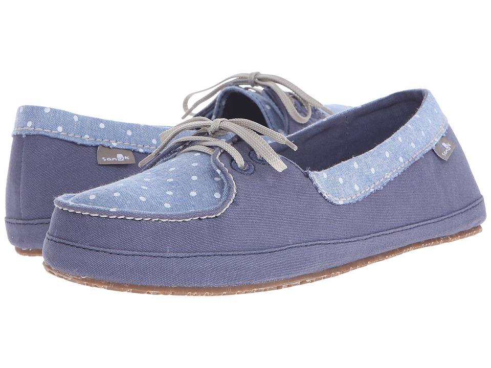 Sanuk Drop It Like Its Yacht Slate Blue Womens Flat Shoes