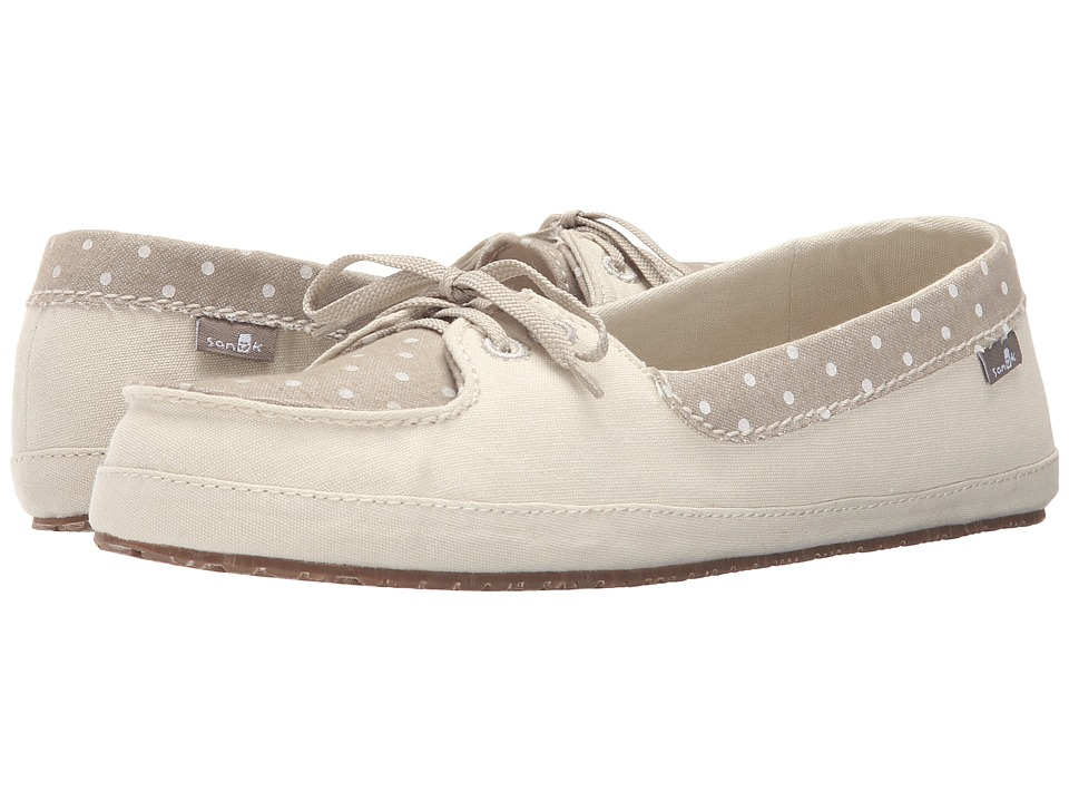 Sanuk Drop It Like Its Yacht Ivory Womens Flat Shoes
