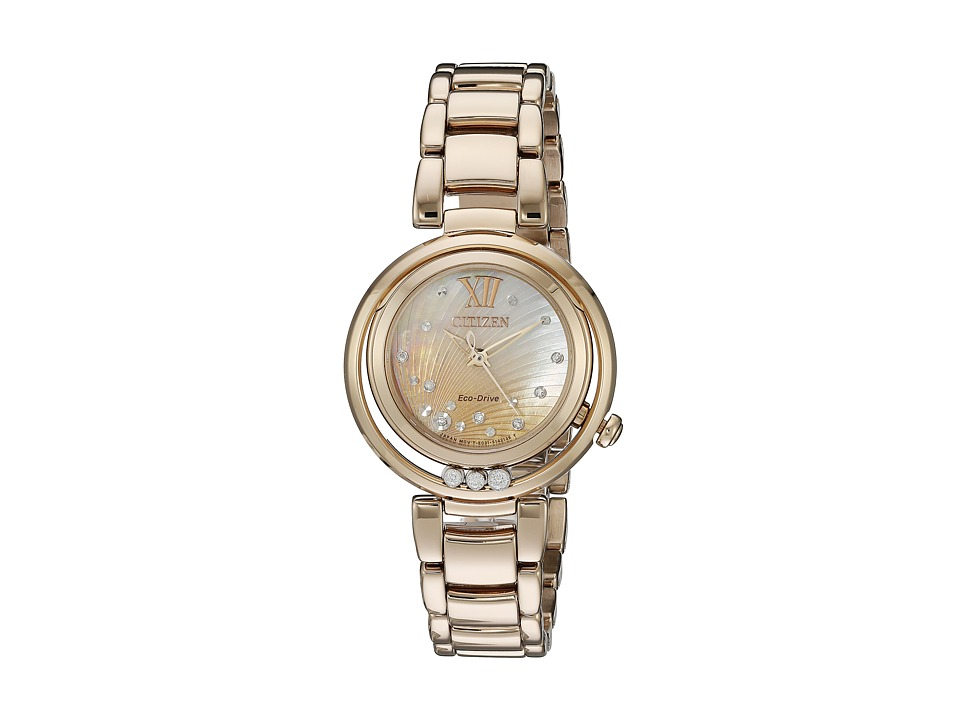 Citizen Watches EM0323 51N Sunrise Rose Gold Tone Stainless Steel Watches