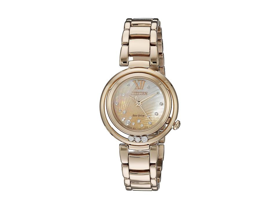 Citizen Watches - EM0323-51N Sunrise (Rose Gold Tone Stai...