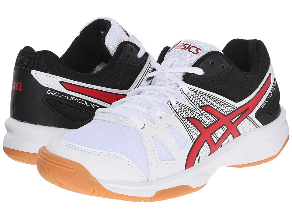 ASICS Kids - Gel-Upcourt GS (Little Kid/Big Kid) (White/Racing Red/Black) Boys Shoes
