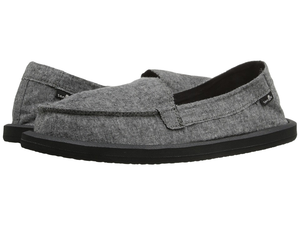 Sanuk Shorty TX Charcoal Chambray Womens Flat Shoes