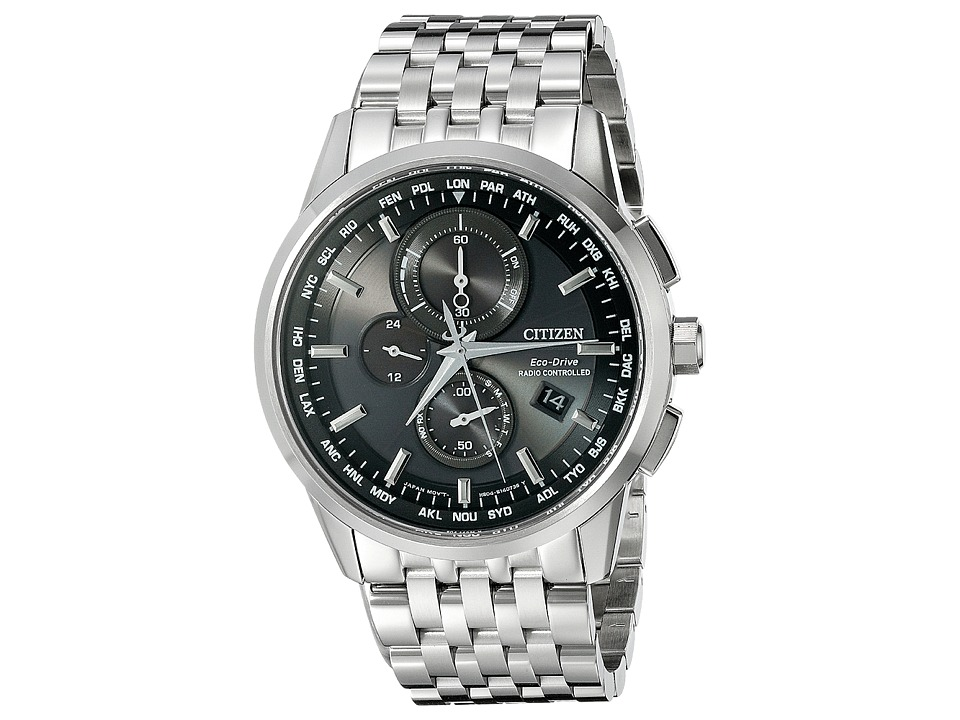 Citizen Watches AT8110 53E World Chronograph A T Silver Tone Stainless Steel Watches