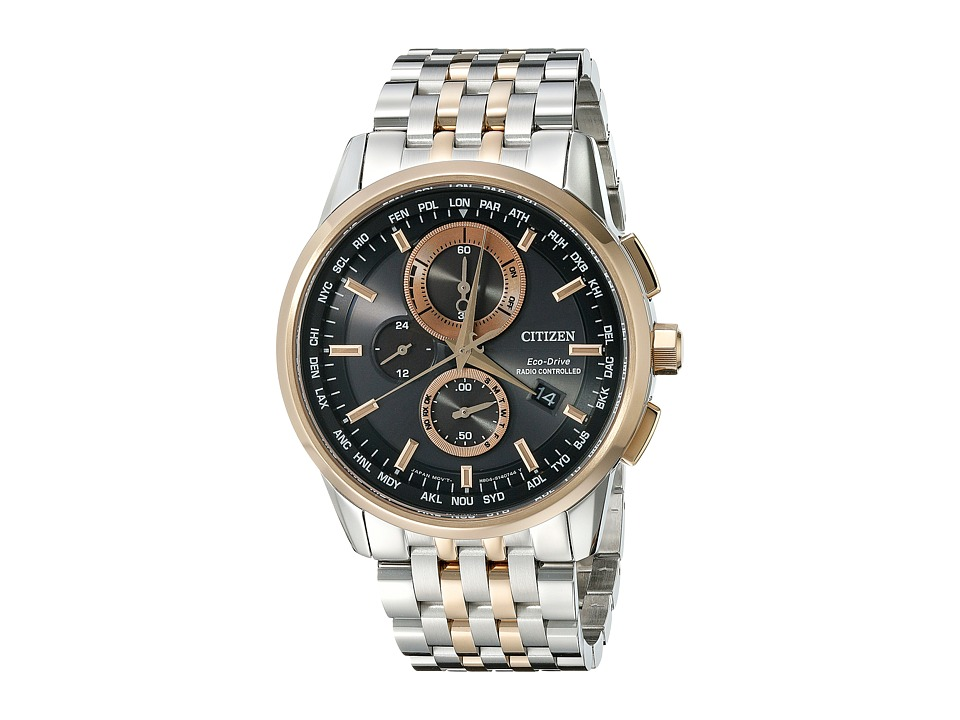 Citizen Watches AT8116 57E World Chronograph A T Two Tone Stainless Steel Watches