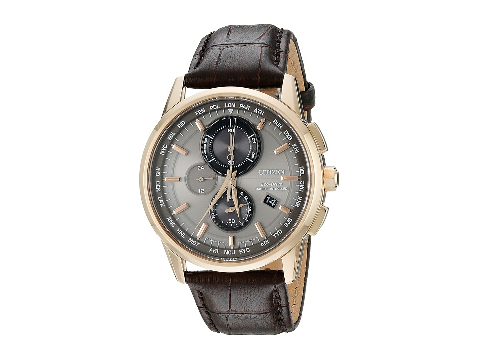 Citizen Watches AT8113 04H World Chronograph A T Rose Gold Tone Stainless Steel Watches