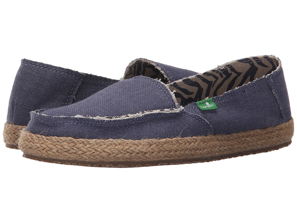 Sanuk Fiona Slate Blue Womens Slip on Shoes
